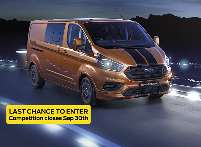 Win this Ford Transit Custom Sport Offer